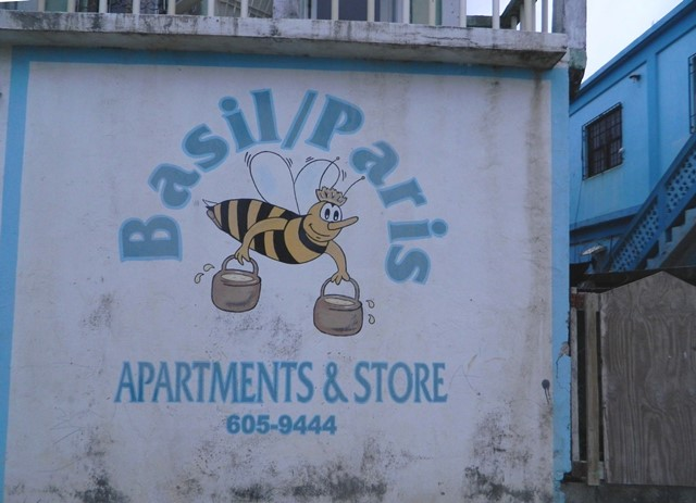 hand painted sign in san pedro town