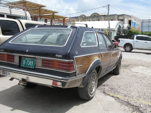 woody station wagon cab in belize city