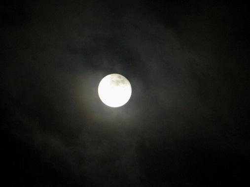 full moon over belize
