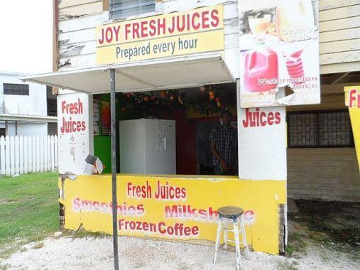 joy fresh juices in belize city