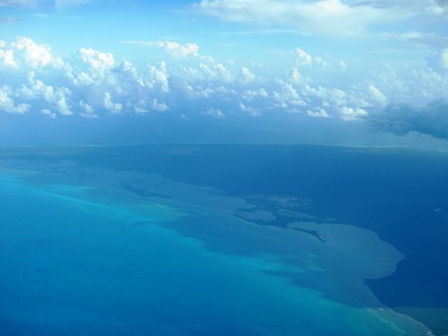 aerial of mexico coast line