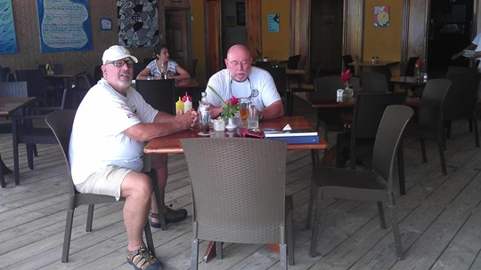 rudy lewis at blue water grill in belize