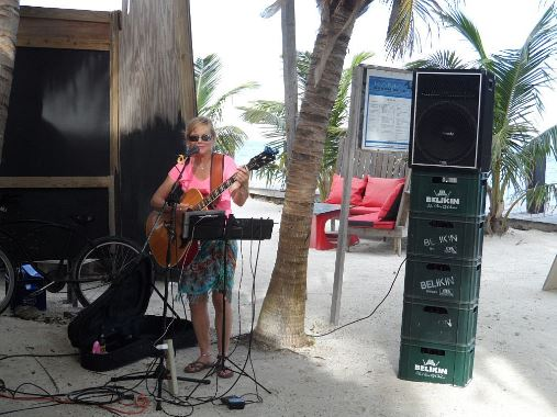 island girl deanna dove playing at coco locos beach bar