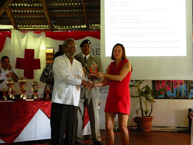 laurie norton and governor general of belize sir colville young
