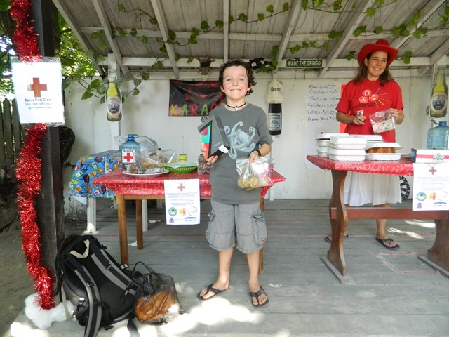 bake sale fundraiser by san pedro belize red cross