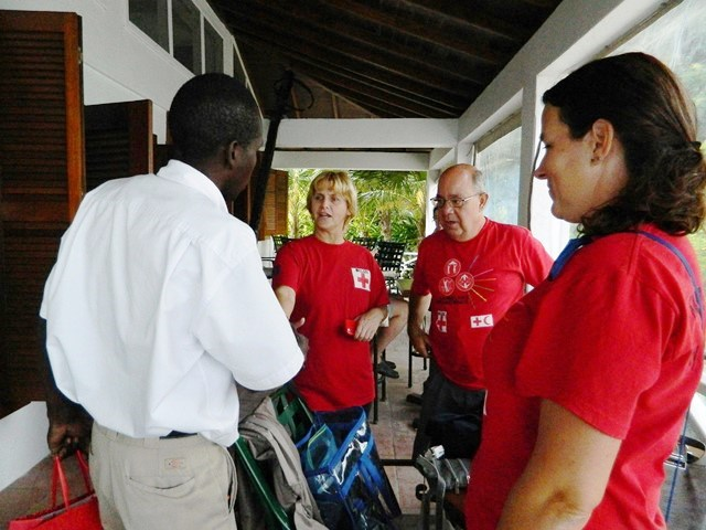 belize red cross and marlon gonzalez at victoria house resortouse belize