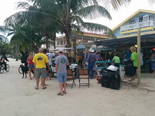 yancey de veer at wayos beach bar belize