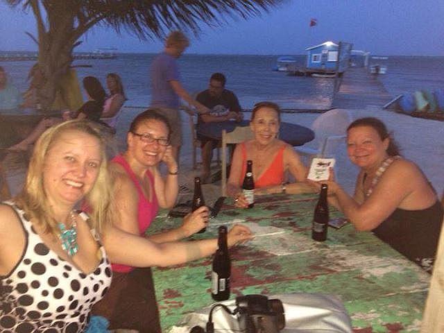 crazy canucks belize beach bar