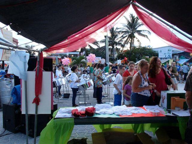 big block party at lobsterfest san pedro belize