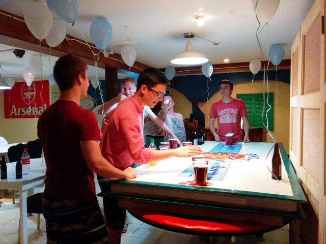 beer pong in belize