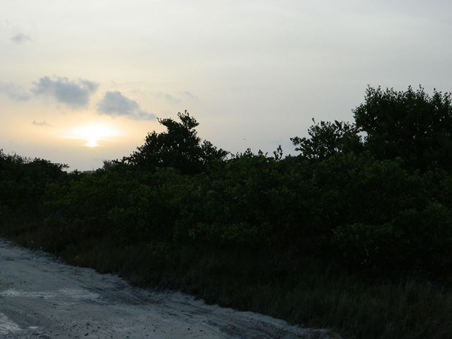 sun rise view from san pedrito in san pedro belize