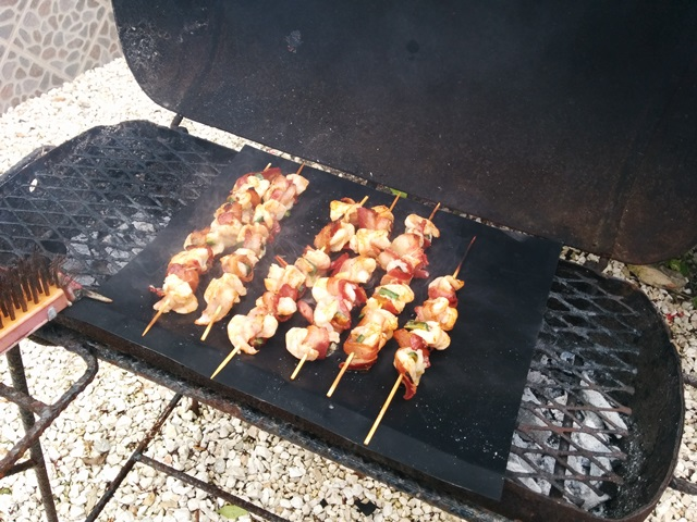 barbecue bacon wrapped shrimp belize