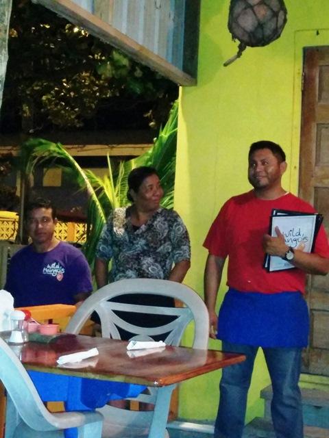wild mangos restaurant, ambergris caye